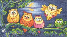 Birds of a Feather Cross Stitch - based on the paintings of Karen Carter