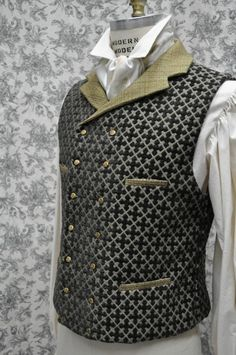 Made To Order/ Custom/ Hand Made/ One Of A Kind--------Men's 1800s Style Victorian/Steampunk Vest--- OnceUponABustle