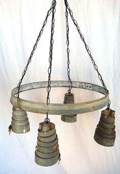 Wine Barrel Ring Hanging Pendant Light by winecountrycraftsman, $275.00