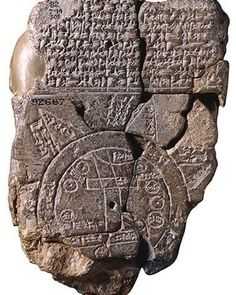 This sixth-century B.C. Babylonian cuneiform tablet is inscribed with a map of the world that reflects how ancient Mesopotamians saw themselves within it. archaeology.org/ #archaeology (© The Trustees of the British Museum