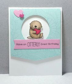 Have an Otterly Great Birthday – MFTWSC324   Purple Place Designs