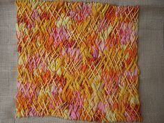 gorgeous use of herringbone stitch!