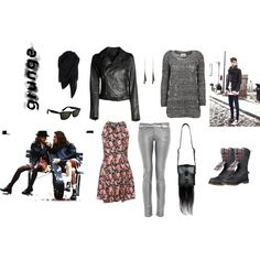 Grunge, created by sofia-arkelid on Polyvore