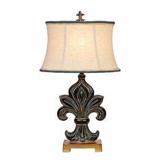 Fleur De Lis Motif Table Lamp