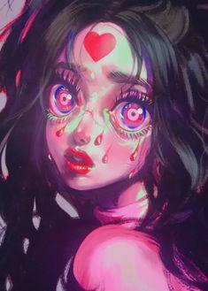 Twitter Cute Art Styles, Cartoon Art Styles, Art Journal Inspiration, Art Inspo, Pastel Goth Art, Art Et Design, Grunge Art, Kawaii Art, Pretty Art