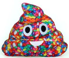 Jelly Bean Poop Pillow –Strawberry Scented