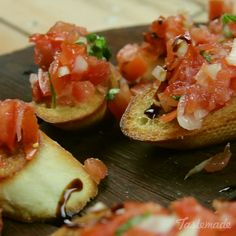 Eat Stop Eat To Loss Weight - Tomato Bruschetta recipe - In Just One Day This Simple Strategy Frees You From Complicated Diet Rules - And Eliminates Rebound Weight Gain Tasty Videos, Food Videos, Tomato Bruschetta, Bruschetta Bar, How To Make Bruschetta, Easy Bruschetta Recipe, Healthy Snacks, Healthy Recipes, Finger Food Recipes