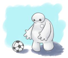 Baymax is so adorable!!! Who else is waiting excitedly for his new movie Big Hero 6 to come out!!!!