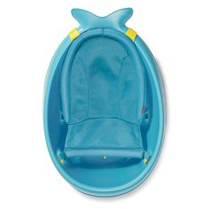 Make bathtime bump-free and fun for baby with Moby, our best-selling blue whale! Our versatile tub grows with baby through three stages and is the only baby bath tub you'll ever need. The sling locks into two ergonomic positions: higher for full-body support and lower for seated support. Dual layered mesh and comfort-edge construction securely cradles baby from head-to-toe. The slings adjusts to a cushioned seat that comfortably supports babies learning to sit. Remove the sling when baby…