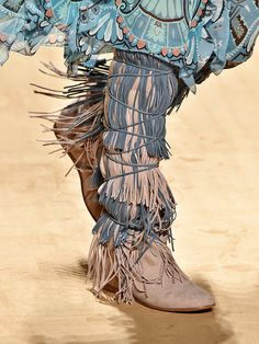 Etro, spring/summer 2015, but it reminded me of a blue tree painted in patterns