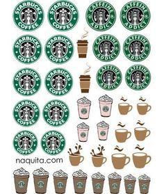 Risultati immagini per printable starbucks labels Starbucks Logo, Starbucks Nails, Starbucks Crafts, Starbucks Coffee, Disney Starbucks, Starbucks Frappuccino, Starbucks Birthday Party, 3d Templates, Barbie Miniatures