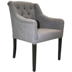 Available upholstered in various fabrics, leather or C. Cool Furniture, Furniture Design, Contract Furniture, House Restaurant, Commercial Interiors, Solid Wood, Accent Chairs, Armchair, Home Decor