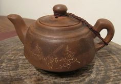 Yixing Pottery, Antique signed handmade teapot