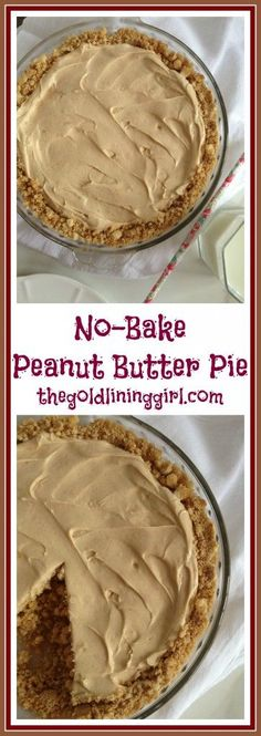 Quick and easy, ready in 10 minutes, rich and creamy no-bake peanut butter pie!! A true crowd-pleaser!