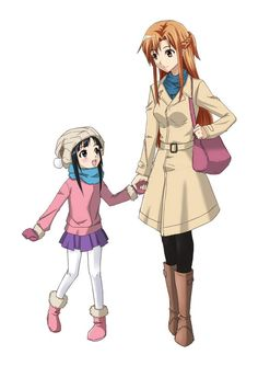 Sword Art Online: Yui and Asuna <3 <3 <3 Mother-daughter bonding. :)