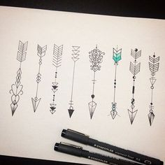 Love the idea of an arrow for a tattoo. Needs to be pulled back before going forward: