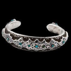 Antique Ethnic Tribal Indian Silver Bracelets - Rabari