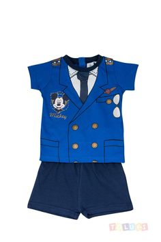 Pyjama Bébé Garçon Mickey pilote d'avion bleu | http://www.toluki.com/prod.php?id=500 #Toluki #enfant