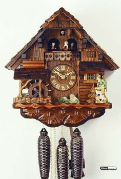 Cuckoo Clock 8-day-movement Chalet-Style 38cm by Rombach & Haas - 4518