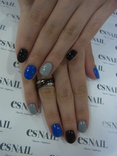 Love this combo with the blue, you can switch that with any bold, bright, or glittery nail!