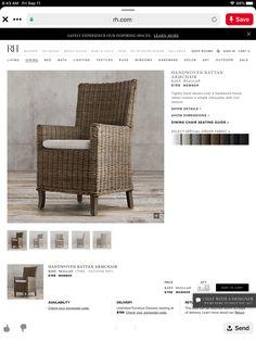 Rattan Armchair, Interior Design Gallery, Window Hardware, Bath Light, Beach House, Windows, Dining, Bed, Modern