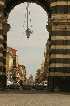 Catania, sicily, Italy - Porta Garibaldi