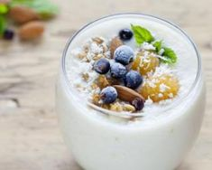 """Creamy and satisfying, this yogurt is full of """"friendly"""" bacteria to help keep your microbiome in check!Serves from 2 young coconutsFew splashes of fresh coconut probiotic capsule or 1 packet of body eco. Foods Full Of Fiber, Post Workout Drink, Coconut Benefits, Coconut Yogurt, Clean Recipes, Clean Foods, Kefir, Healthy Smoothies, Healthy Food"""