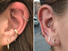From constellation piercings to double helixes, it's all about dainty piercings these days.