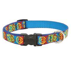 Peace Pup Medium Dog Adjustable Collars http://www.chicpooch.com/lupine-pet-medium-dog-collars-leashes-harnesses-leash-couplers.html