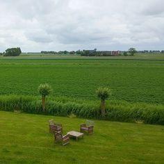 Zojuist aangekomen bij B&B Lytshuis Zilver in Paesens in Friesland en dan verrast worden met dit uitzicht... Gewoon heerlijk!  #paesens #friesland #belm15 #bloggersevent