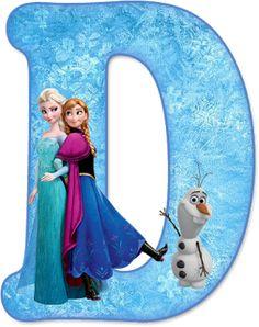 Alfabeto de Ana, Elsa y Olaf de Frozen. #lettercakegeburtstag Alfabeto de Ana, Elsa y Olaf de Frozen.