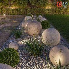 begrenzt Blumenbeet, Formate MAX, FBX, Architekturkugeln Buchsbaum zerkleinert - List of the most beautiful garden decor Backyard Garden Design, Garden Art, Backyard Patio, Garden Pods, Rock Garden Design, Garden Balls, Diy Garden, Modern Landscape Design, Modern Design