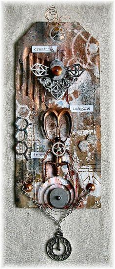 Scrapbook Dreams: Metamorphosis for SanDee & Amelie's Steampunk Challenge; Sept 2015 #steampunk