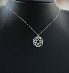 Items similar to All Sterling Silver Celtic Knot Necklace, Celtic jewelry, Celtic Knot, minimalist jewelry, sterling jewelry on Etsy - - Ruby Jewelry, Sterling Jewelry, Pandora Jewelry, Silver Jewelry, Fine Jewelry, Jewlery, Celtic Knot Necklace, Diamond Cross Necklaces, Minimalist Necklace