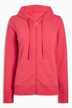 Red Zip Through Sweat Latest Fashion For Women, Mens Fashion, Winter 2017, Hooded Jacket, Hoodies, Sweaters, Jackets, Autumn, Zip