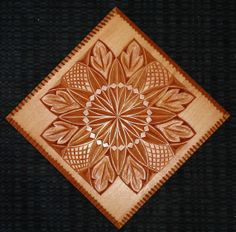 All hand carved solid wood tile by HOLIWOOD on Etsy, $65.00