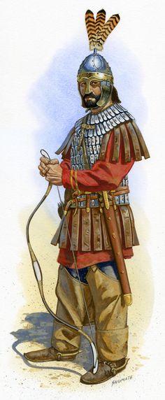 Roman archer, VI cent. AD.