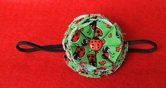 Ladybug Fabric Flower Headband by TheLavenderLounge on Etsy, $6.00