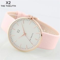Fashion female clock new brand X2 THE TWELFTH bell Women leather quartz watch montre femme marque de luxe zegarek damski