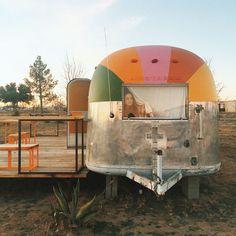 stay in a chic trailer @ el cosmico Camping Gear, Camping Hacks, Camping Outdoors, Camping Essentials, Marfa Lights, Joy Ride, Vintage Trailers, Vintage Campers, Vintage Airstream