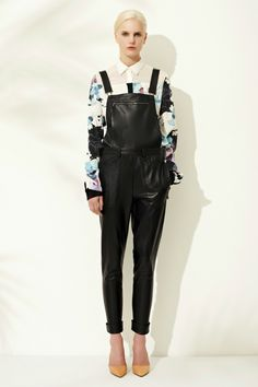 ooo, are these leather overalls?? 3.1 Phillip Lim Resort 2013