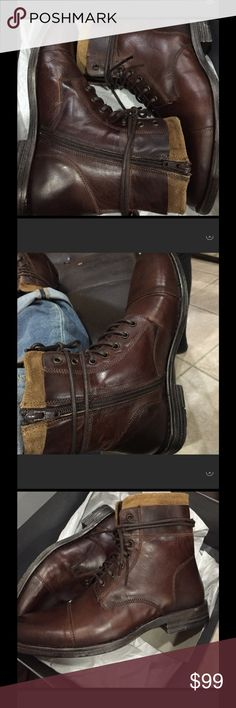 Hurricane Leather Boots topshop