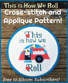 Free Cross-Stitch and Applique Pattern for Campers! Project Yourself, Diy Tutorial, Fun Crafts, Camper, Applique, Cross Stitch, Pattern, Projects, Fun Diy Crafts
