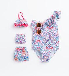 Image 1 of from Zara - Beach kids - Baby Bikini, Baby Swimsuit, Kids Outfits Girls, Cute Outfits For Kids, Boy Outfits, Baby Girl Fashion, Toddler Fashion, Kids Fashion, Kids Swimwear