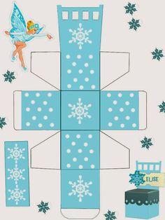 Navidad: Sillas-caja para marcar los lugares, para Imprimir Gratis.