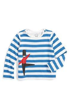 Burberry 'Cadby' Stripe Long Sleeve T-Shirt (Baby Boys & Toddler Boys)