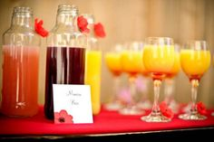 Mimosa bar for the BM's getting ready - morning of :)