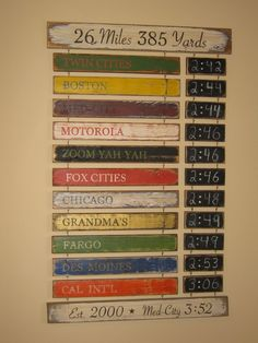 Great way to display all the marathons I plan on running one day