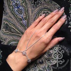 Купить Слейв-браслет (БСЛ18) серебро 925 - слейв-браслет, Браслет ручной работы, браслет