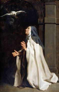 Teresa of Avila's Vision of the Dove by Peter Paul Rubens The Fitzwilliam Museum Date painted: Peter Paul Rubens, Religious Images, Religious Art, Religious Paintings, Saint Teresa Of Avila, St Ignatius, Les Religions, Mother Teresa, Antwerp